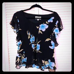 🌸NEW🌸EUC VTG floral flowy summer blouse